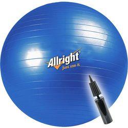 Piłka gimnastyczna śr.65 cm + pompka Allright (niebieska)