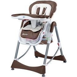 Krzesełko do karmienia Bistro Caretero (brązowy)