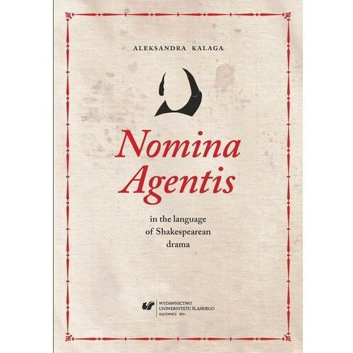 Nomina Agentis in the language of Shakespearean drama - Aleksandra Kalaga - ebook