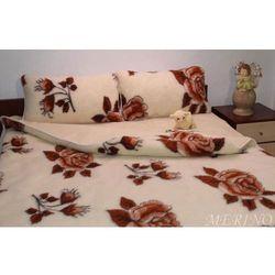 Kołdra z wełny merynosa 160x200 - Róża Brąz