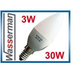 Żarówka LED E14 SMD5050 świeczka mleczna ciepła 3W - 30W