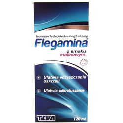 Flegamina syrop o smaku malinowym 120 ml
