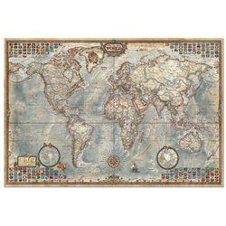 Puzzle 1500 Świat mapa stylizowana polityczna