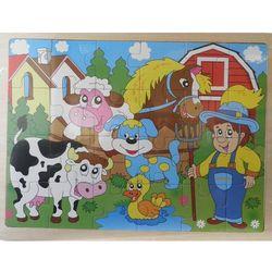 Układanka drewniana Farma 24