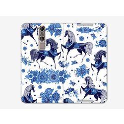 Flex Book Fantastic - ZTE Axon Mini - pokrowiec na telefon - niebieskie konie