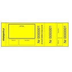Numerki kontrolne leku recepturowego - żółte - perforowane x 100 szt.
