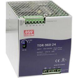 Zasilacz na szynę DIN Mean Well TDR-960-24, 40 A, 960 W, 1 x