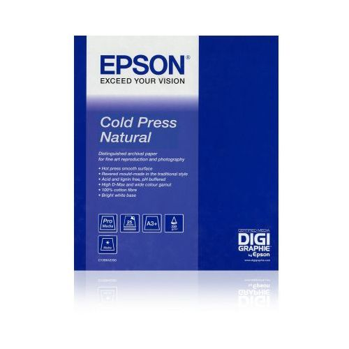 "Epson C13S042303 Cold Press Natural 17"" x 15, 330 g/m2"