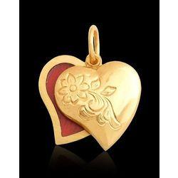 złoty wisiorek podwójne serce