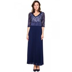 Galowa suknia z plisowanym dołem - Potis & Verso