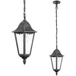 Zewnętrzna LAMPA wisząca NAVEDO 93455 Eglo klasyczna OPRAWA ogrodowa IP44 outdoor patyna czarny