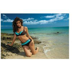 Kostium kąpielowy Nancy Seppia-Martinica M-330 Brązowo-turkusowy (157)