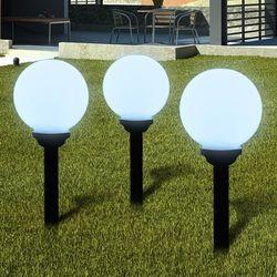 vidaXL Ogrodowe lampy solarne LED 20cm, 3szt z uziemieniem Spike Darmowa wysyłka i zwroty