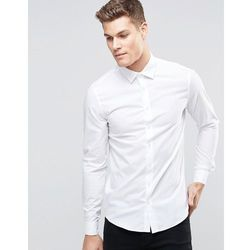 Calvin Klein Skinny Smart Shirt With Stretch - White