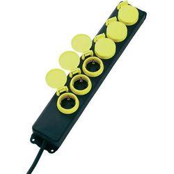 Listwa zasilająca,, Conrad, 6 gniazd, H05RR -F 3G1.5 mm2, przewód 1,5 m, czarna/żółta