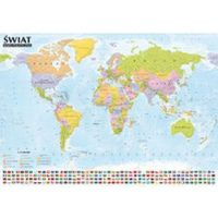 Świat Mapa Polityczna I Krajobrazowa Tuba (opr. miękka)