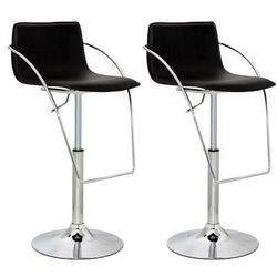 Nowoczesne krzesła barowe brąz, PCV, z podłokietnikami x2 Zapisz się do naszego Newslettera i odbierz voucher 20 PLN na zakupy w VidaXL!