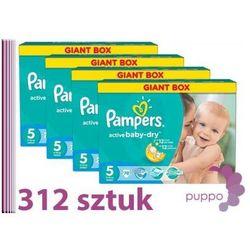 PAMPERS pieluszki Active Baby 5 Junior 312 sztuk