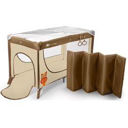 Łóżeczko turystyczne KINDERKRAFT Joy z uchwytami do nauki wstawania Beżowy + DARMOWY TRANSPORT!
