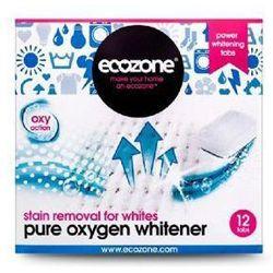 Ecozone tabletki odplamiające z aktywnym tlenem do tkanin białych 12 szt