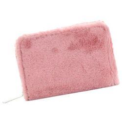 621d706a868cd David Jones Modne Portfele Damskie z futerka Różowe (kolory)