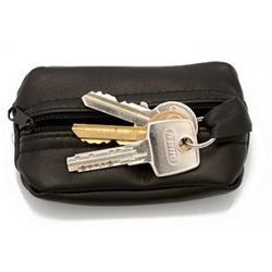 Klasyczne skórzane etui na klucze, kluczówka - Midi