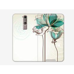 Flex Book Fantastic - ZTE Axon Mini - pokrowiec na telefon - turkusowy kwiat