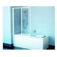 Parawan nawannowy Ravak VS2 105 Biały + Transparent 796M0100Z1