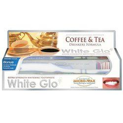 WHITE GLO 100ml Coffee&Tea Wybielająca pasta do zębów + szczoteczk