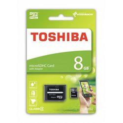 Toshiba microSDHC 8GB class 4 High Speed M102 adapter