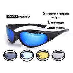 Okulary sportowe polaryzacyjne - 5 szkieł