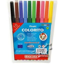 Flamastry pisaki mazaki FIBRACOLOR 10 kolorów