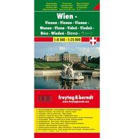 Wiedeń mapa turystyczna 1:8 500 - 1:25 000 Freytag & Berndt (opr. miękka)