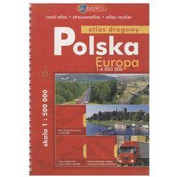 Polska / Europa Atlas drogowy 1:4 000 000 - Praca Zbiorowa - Dostawa Gratis, szczegóły zobacz w sklepie