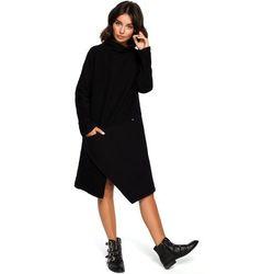 c529aac46bdb59 suknie sukienki prosta wzorzysta sukienka z dlugim rekawem gnieciony ...