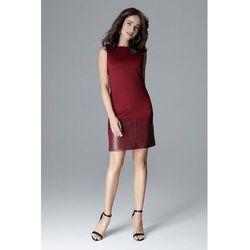 4e6302379c suknie sukienki turkusowa prosta sukienka z suwakami i wstawkami z ...