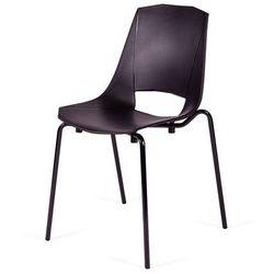 Krzesło EVVA - Czarne, nogi metalowe.