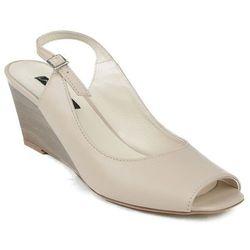 M-409 Visconi sandały beżowe na koturnie