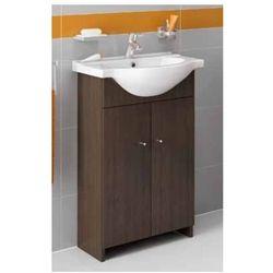 DEFTRANS VENUS Zestaw łazienkowy szafka 2D0S D56 bez cokołu + umywalka, wenge luiziana 108-D-05602+1403