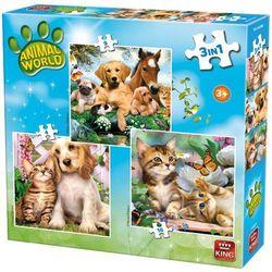 22-005323 Puzzle Pieski i kotki - PUZZLE DLA DZIECI
