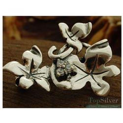 CUDOWNA PODRÓŻ - srebrna broszka z kryształkami