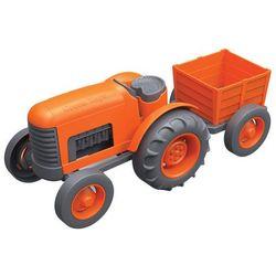 Traktor z przyczepką pomarańczowy