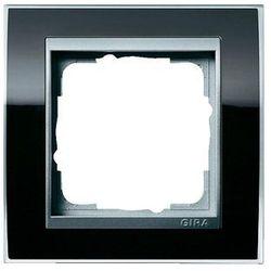 Ramka pojedyncza aluminiowy Gira Event Clear czarny
