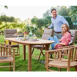 Rozkładany tekowy stół ogrodowy