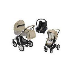 Wózek wielofunkcyjny 3w1 Lupo Dotty Baby Design + Cabrio Fix GRATIS (Eco beżowy)