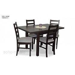 ZESTAW ADAM 4 krzesła+stół 80x80/125cm LAMINAT
