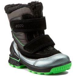 Śniegowce ECCO - Biom Hike Infant 75356159997 Buffed Silver/Black/Black/Touc