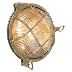Kinkiet/ plafon Nautica okrągły złoty
