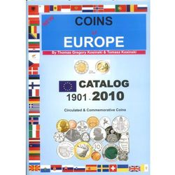 Coins of Europe. Catalog 1901-2010. Circulated & Commemorative Coins. New. (opr. miękka)