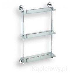 OMEGA Półka szklana potrójna z relingiem 40x68x12 cm 104202132